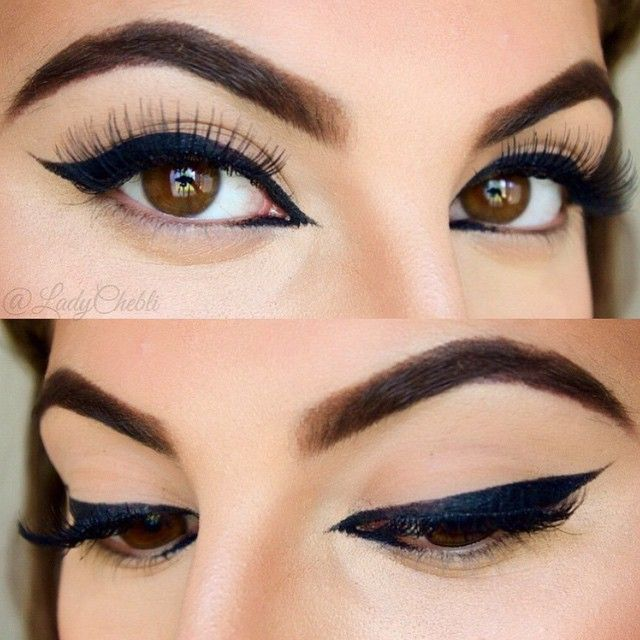 Liner on Point by @ladychebli❤️Using ✨Luxie Beauty Brushes✨ #luxiebeauty #makeup #beauty #eyes