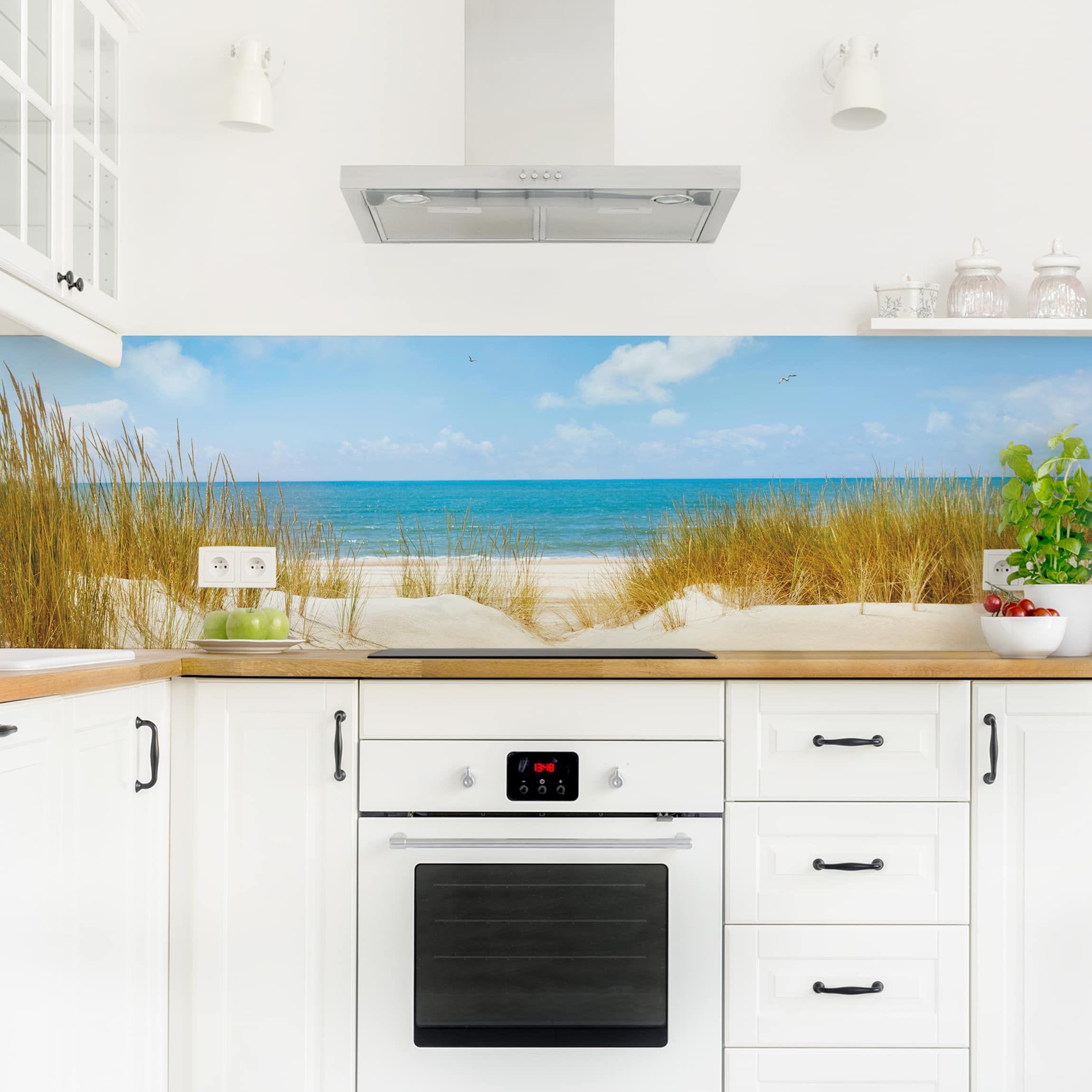 Küchenrückwand - Strand an der Nordsee - Küchenrückwandfolie