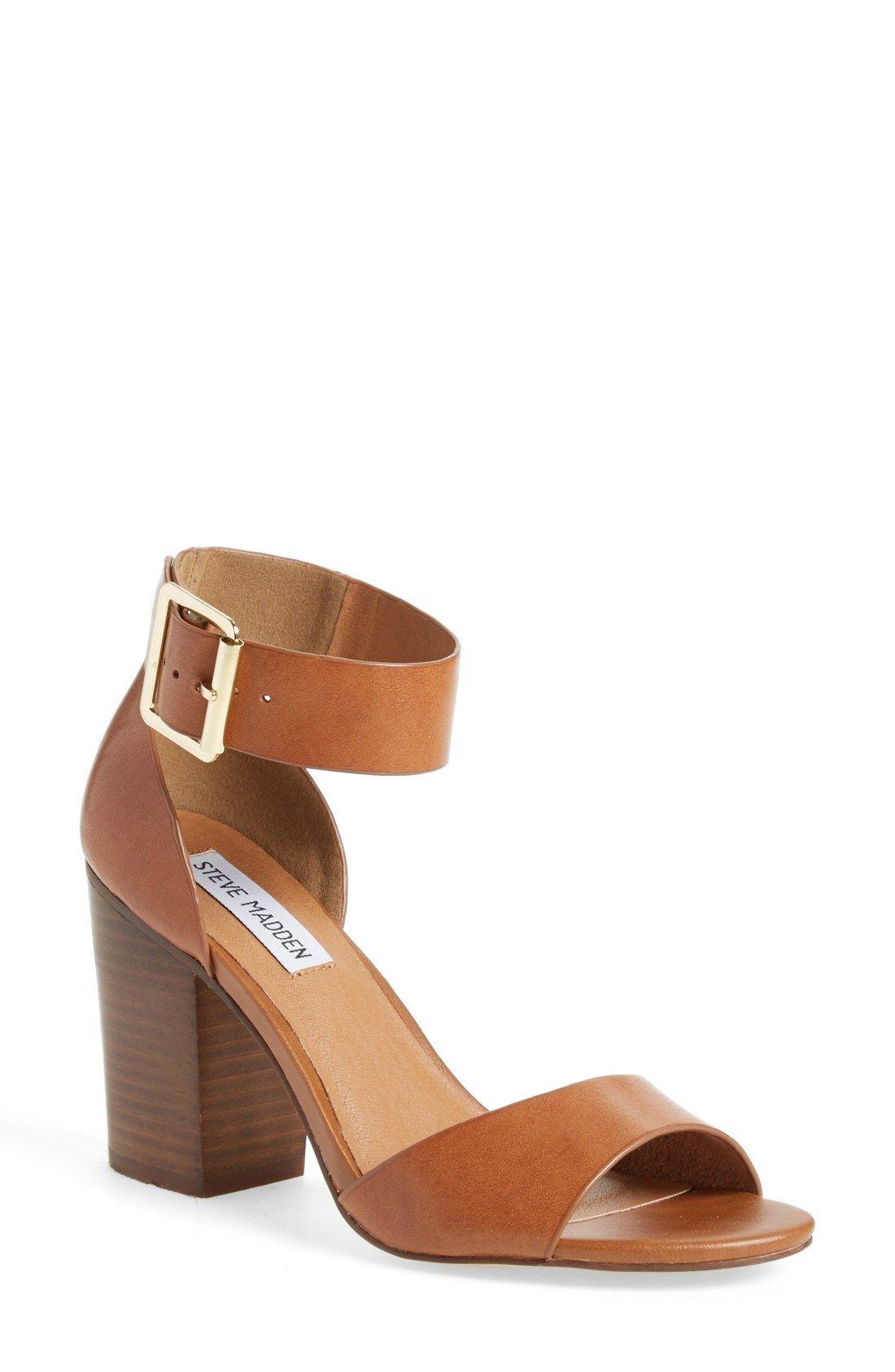 Black sandals with straps - Steve Madden Estoria Ankle Strap Sandal