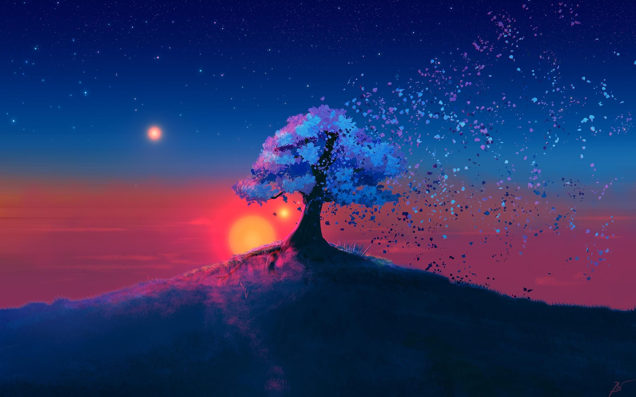 Fading Tree Music Indieartist Chicago Tree Sunset Wallpaper Sunset Wallpaper Scenery Wallpaper