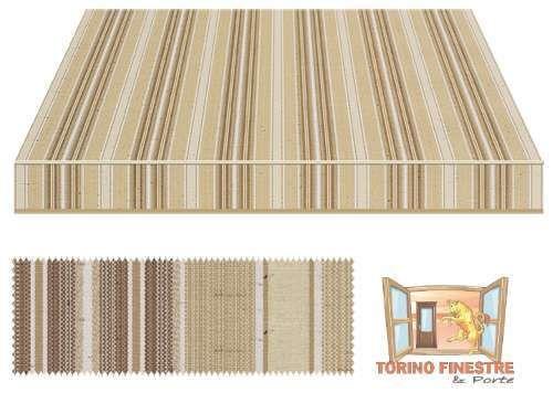 Tessuti Tempotest in Acrilico Marroni Tende, Grigio, Marrone