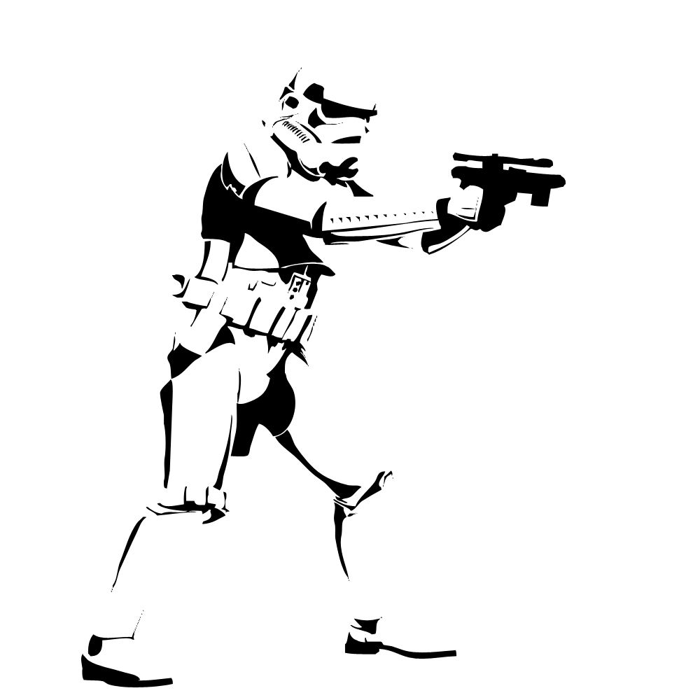 stormtrooper w blaster stencil template stencil templates