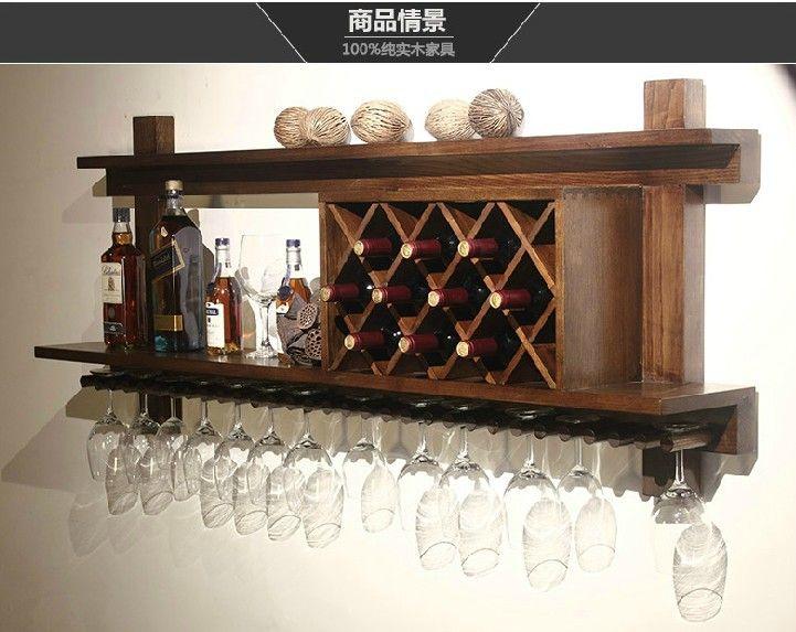 Porta Copa Madera Buscar Con Google Modern Wall Wine Rack Bar Glass Rack Wood Wine Racks