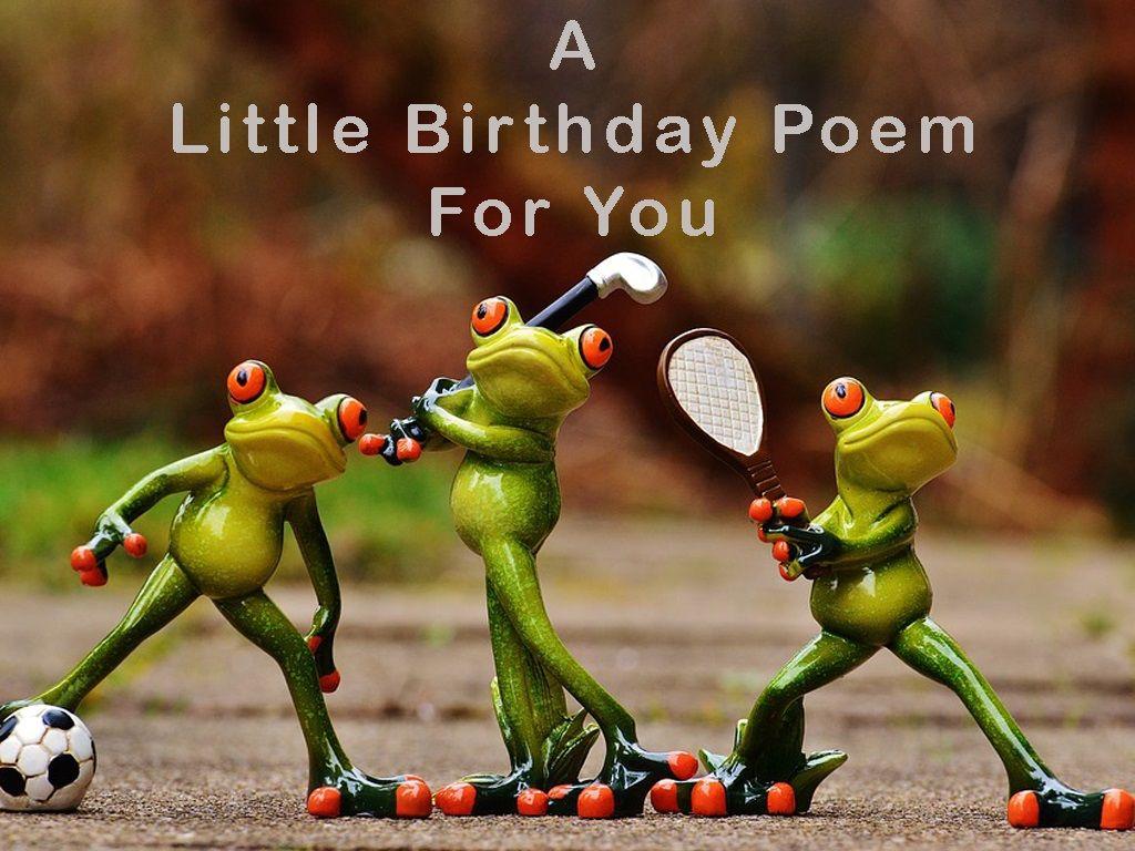 Short Funny Birthday Poems Birthday Poems School Sports Day