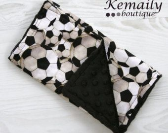 Soccer Minky Burp Cloth From Kemaily
