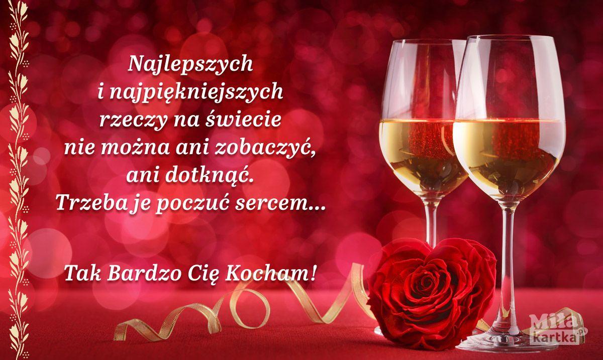 Pin Na Milosc Kartki Walentynkowe