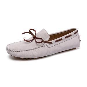 genuine leather men's breathable slip on tassel loafers