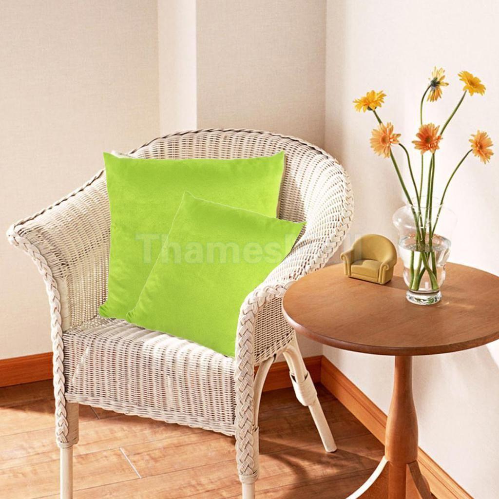 Square cushion cover suede fabric throw pillow case slip home sofa