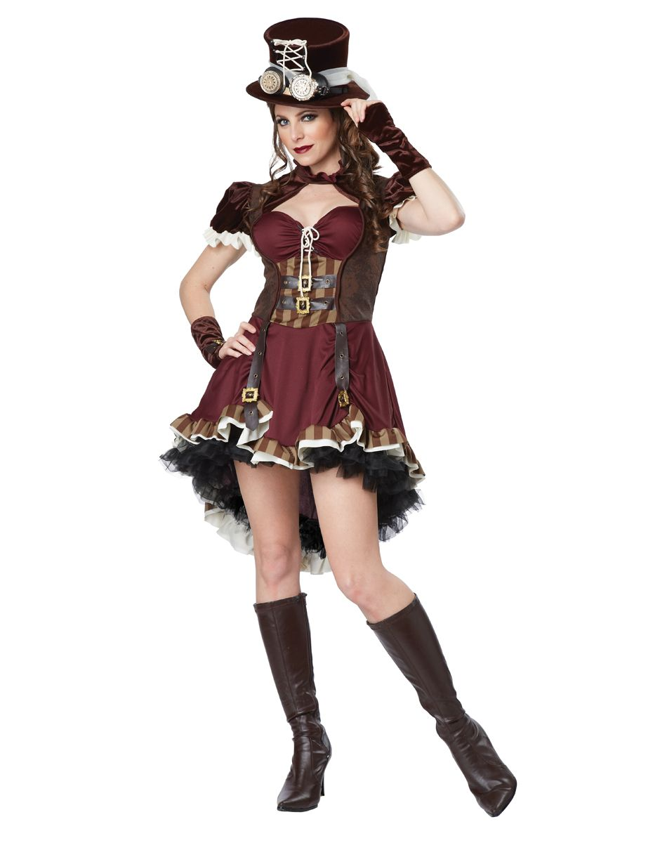 Details about School Girl Costume Adult Sexy Punk Halloween Fancy ...