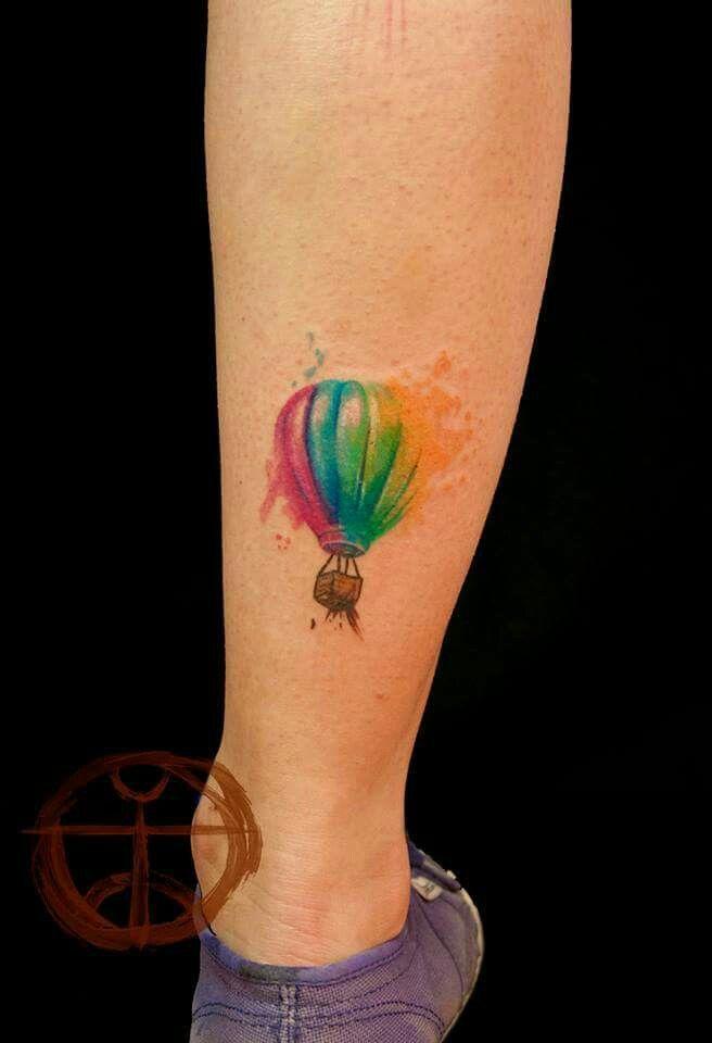 #HotAirBalloon #Tattoos #Ink #Watercolor #HotAirBalloonTattoos #Cute
