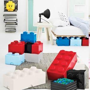 Giant Lego Brick Storage Box - Red, White Blue Collection   The Organizing Store #legostorage