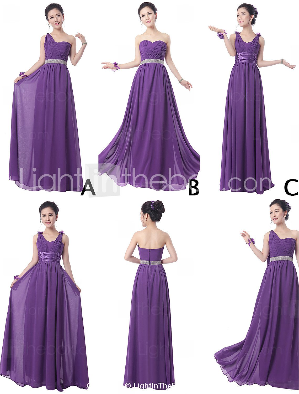 Dark purple wedding dress  Mix u Match Dresses Floorlength Chiffon  Styles Bridesmaid Dresses