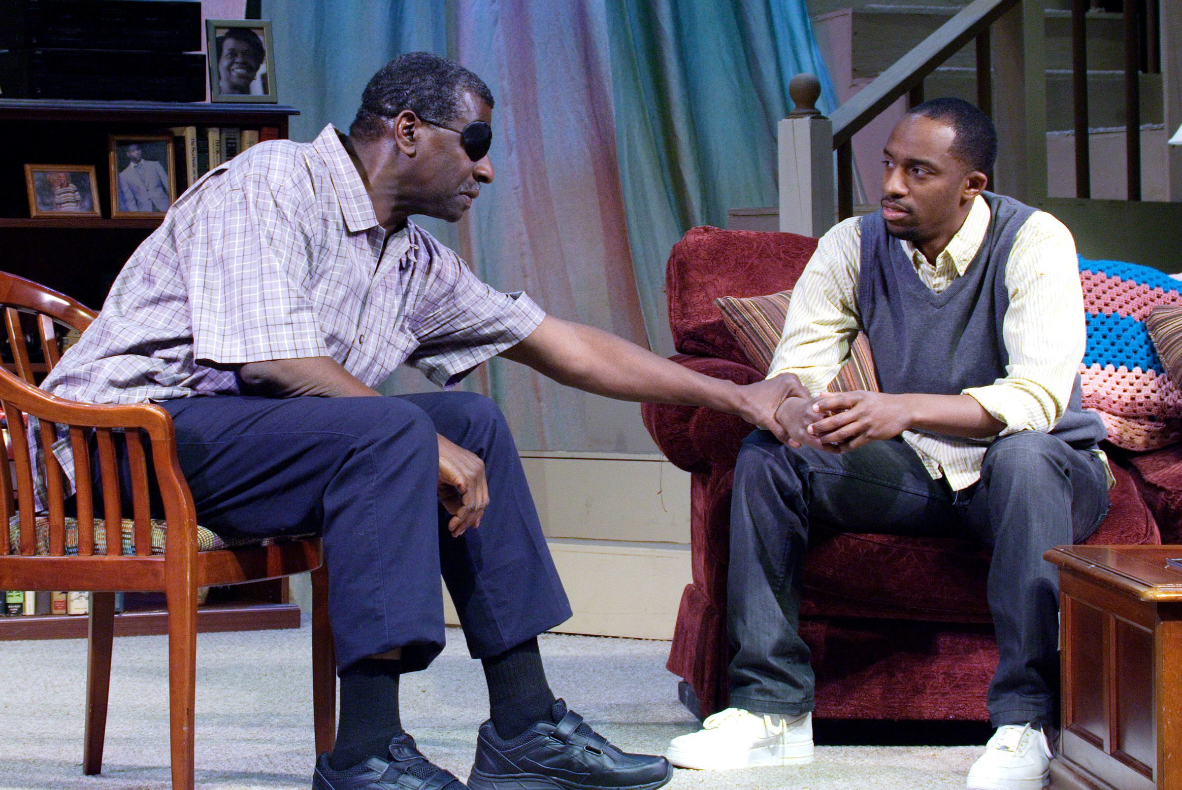 Afemo Omilami and Eric Little in our production of Broke-ology by Nathan Louis Jackson for our 2010-2011 season at Kenny Leon's True Colors Theatre Company.