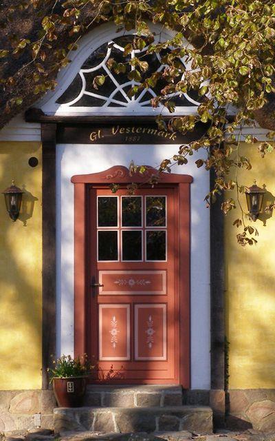 Farmhouse Door Built In Denmark 1911 A House Is Now Around It S No Longer Farm