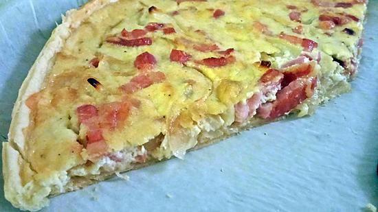 recette ~ Tarte oignons lardons ~