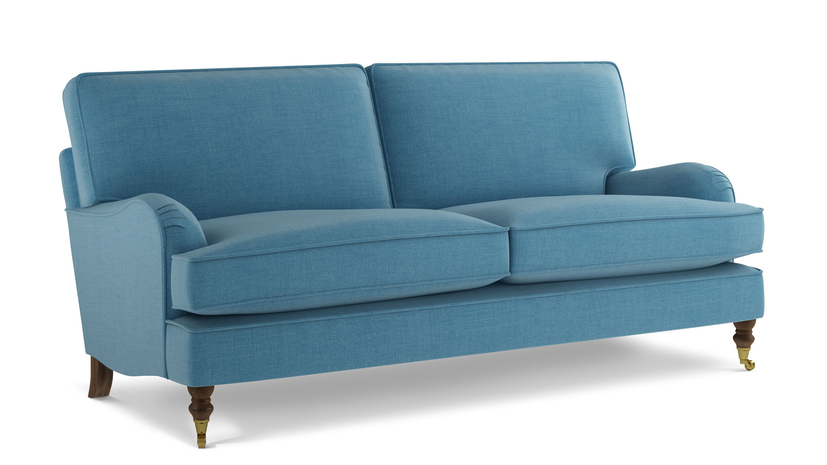 Hartfield Sofa 3 Seater Vintage Style with Wheels