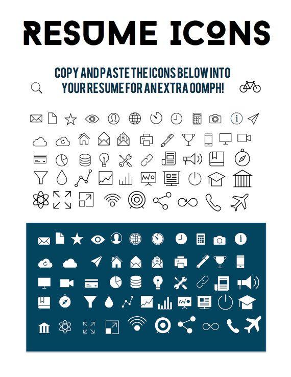 Download 54 Png Icons For Contact Information Experience And Etsy Resume Icons Resume Resume Design