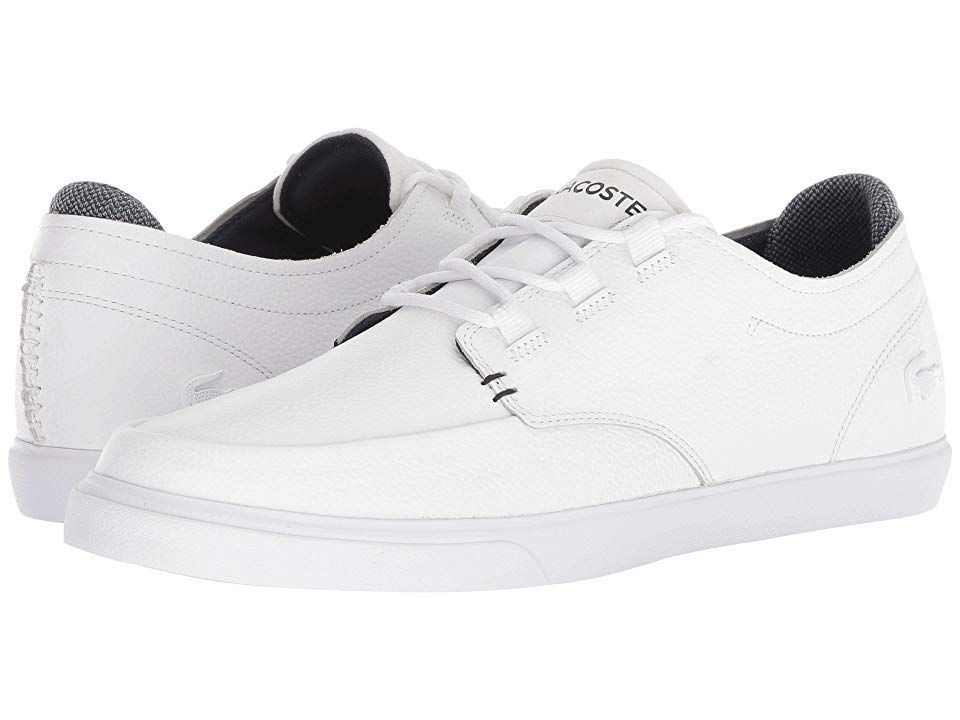 8f7077740da2 Lacoste Esparre Deck 318 1 (White Navy) Men s Shoes. A clean and fresh  style to finish your look the Lacoste Esparre Deck 318 1 low-profile sneaker .