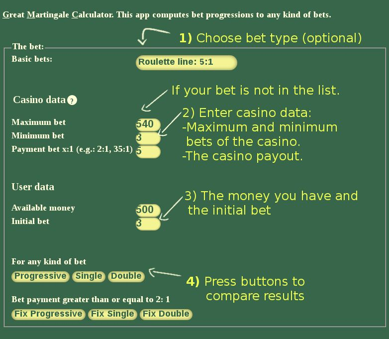 Cryptocurrency casino martingale caculate