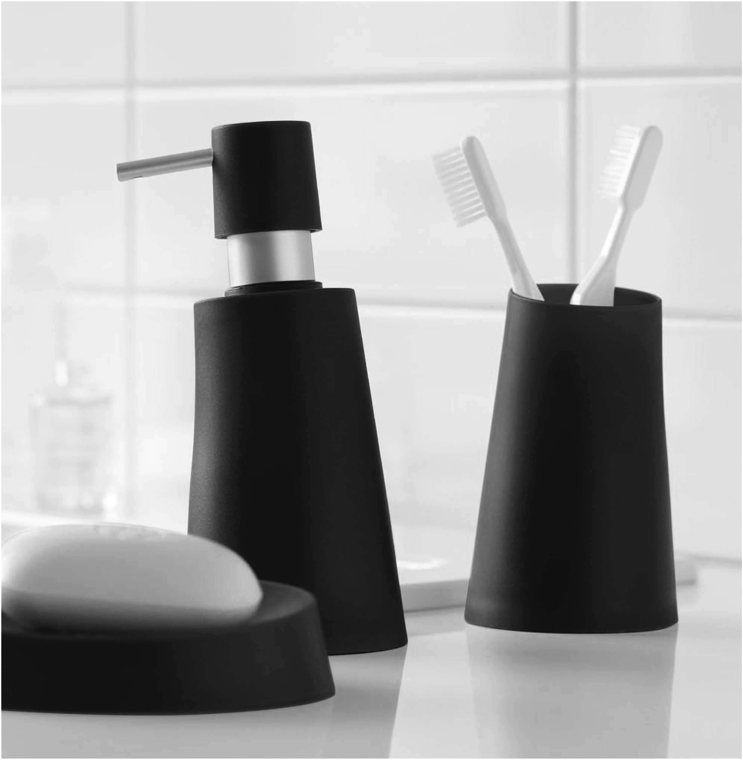 Spirella Move bathroom accessories in black. #bathroom #black ...