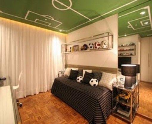 Dormitorio para joven adolescente futbolista lauti lorca for Decoracion de recamaras para jovenes hombres