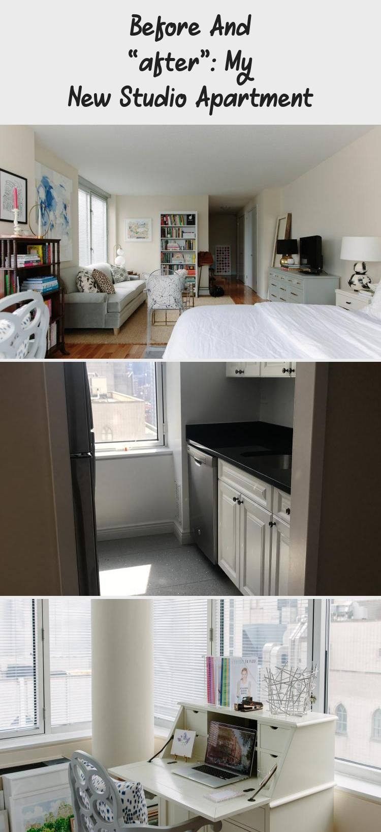 Before And After My New Studio Apartment York Avenue Apartmentdecorrental Apartmentdecorblue Apartmentdecorbrowncouch Apartmentdecorbeach Apartmentdec In 2020