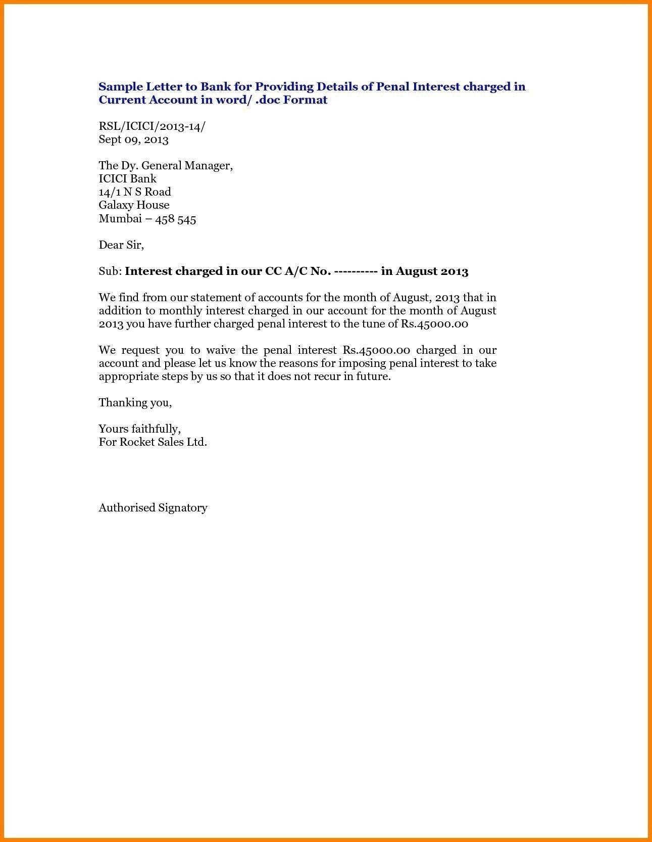 Valid Letter Format For Bank Fund Transfer