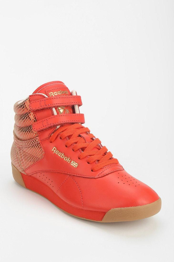 Reebok Freestyle Metallic High Top Sneaker #urbanoutfitters