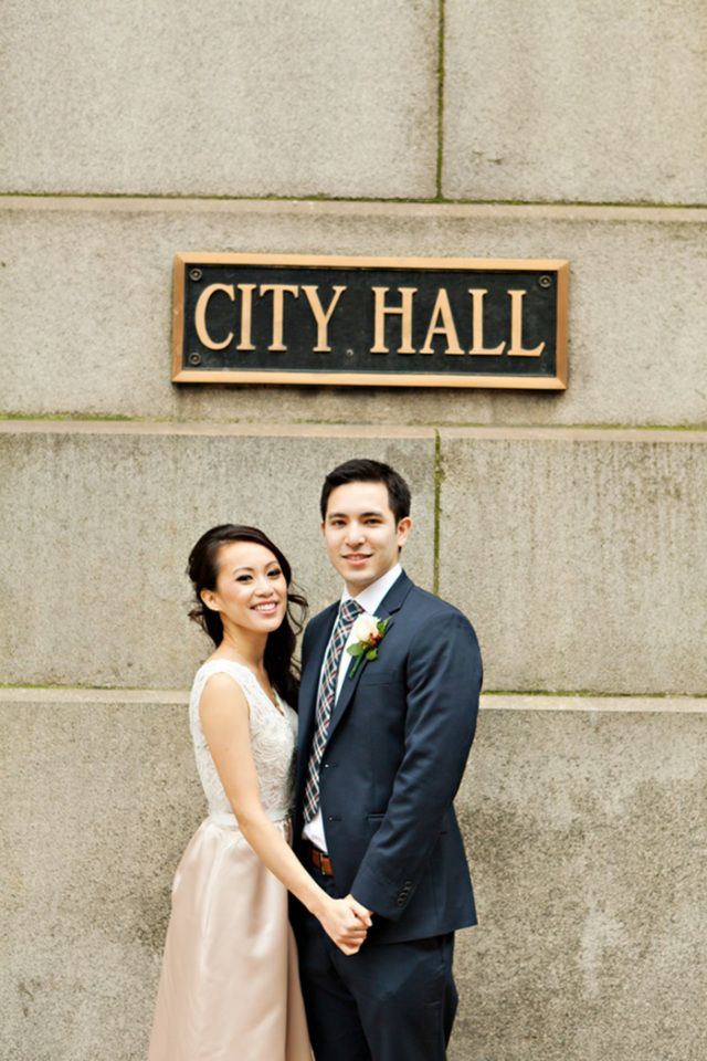 A Love That Chased The Cold Away City Hall Wedding Civil Wedding Civil Wedding Dresses