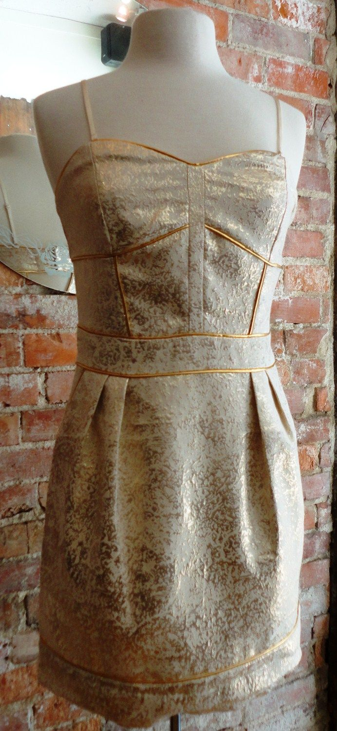 """Gentle Fawn """"Twinkle"""" in gold   Can be worn with or without straps   Tsuru - Lincoln, NE"""