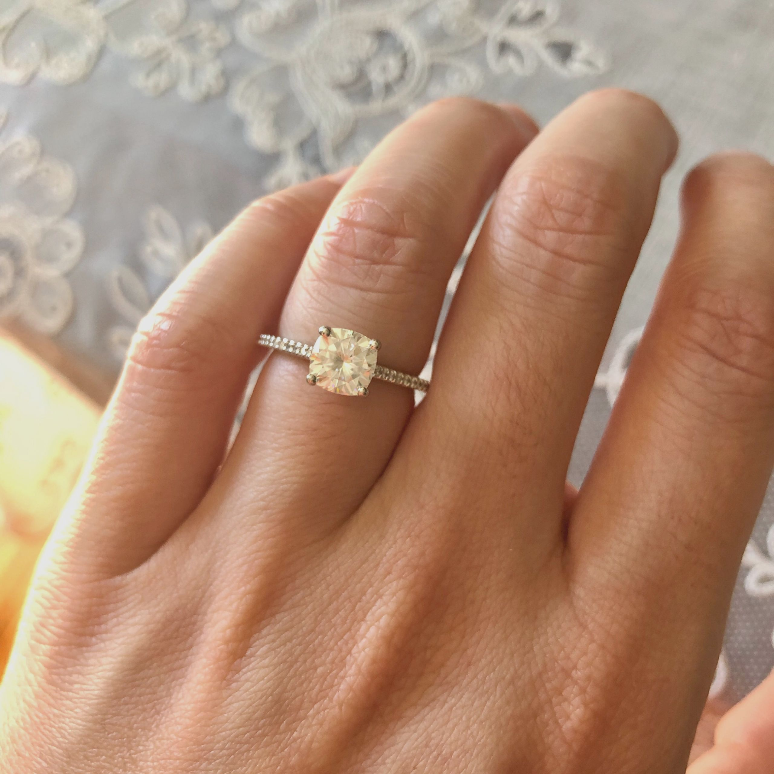 Celebrities with Moissanite Engagement Rings - weddings jewelry rings
