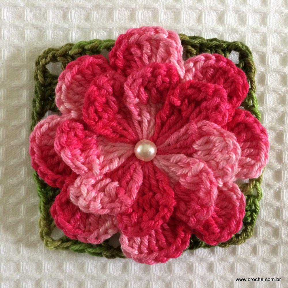 Flor Catavento Dupla Sem Miolo Flores De Croche Tutorial De