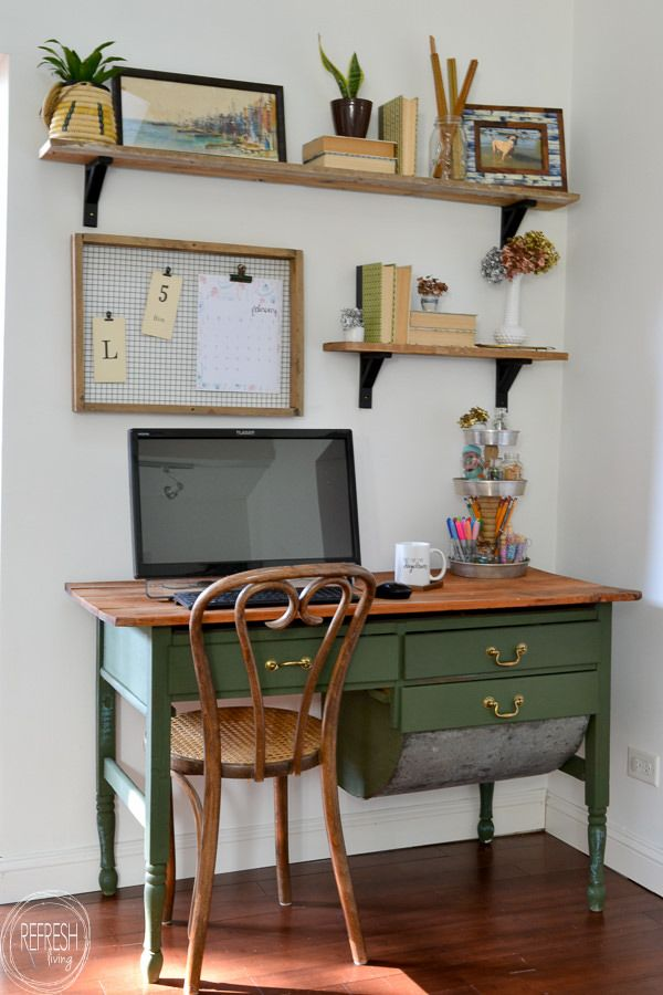 Photo of Vintage Modern Home Office Reveal: $100 Room Challenge