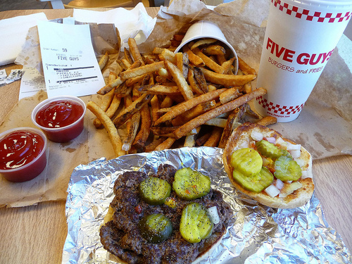 Five Guys All The Way Not Healthyy Pinterest Food