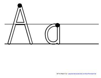 free! Alphabet Word Work Mats