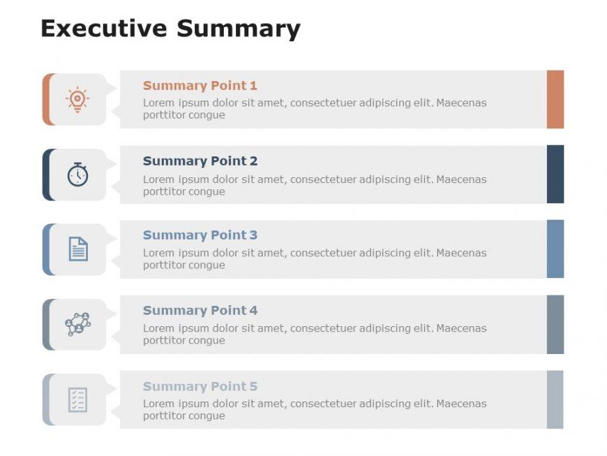 Free Executive Summary Slides 5 Steps Executive summary