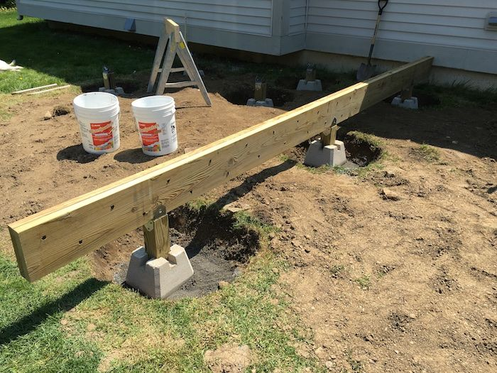How To Build A Floating Deck Rogue Engineer Floating Deck Plans Floating Deck Building A Deck