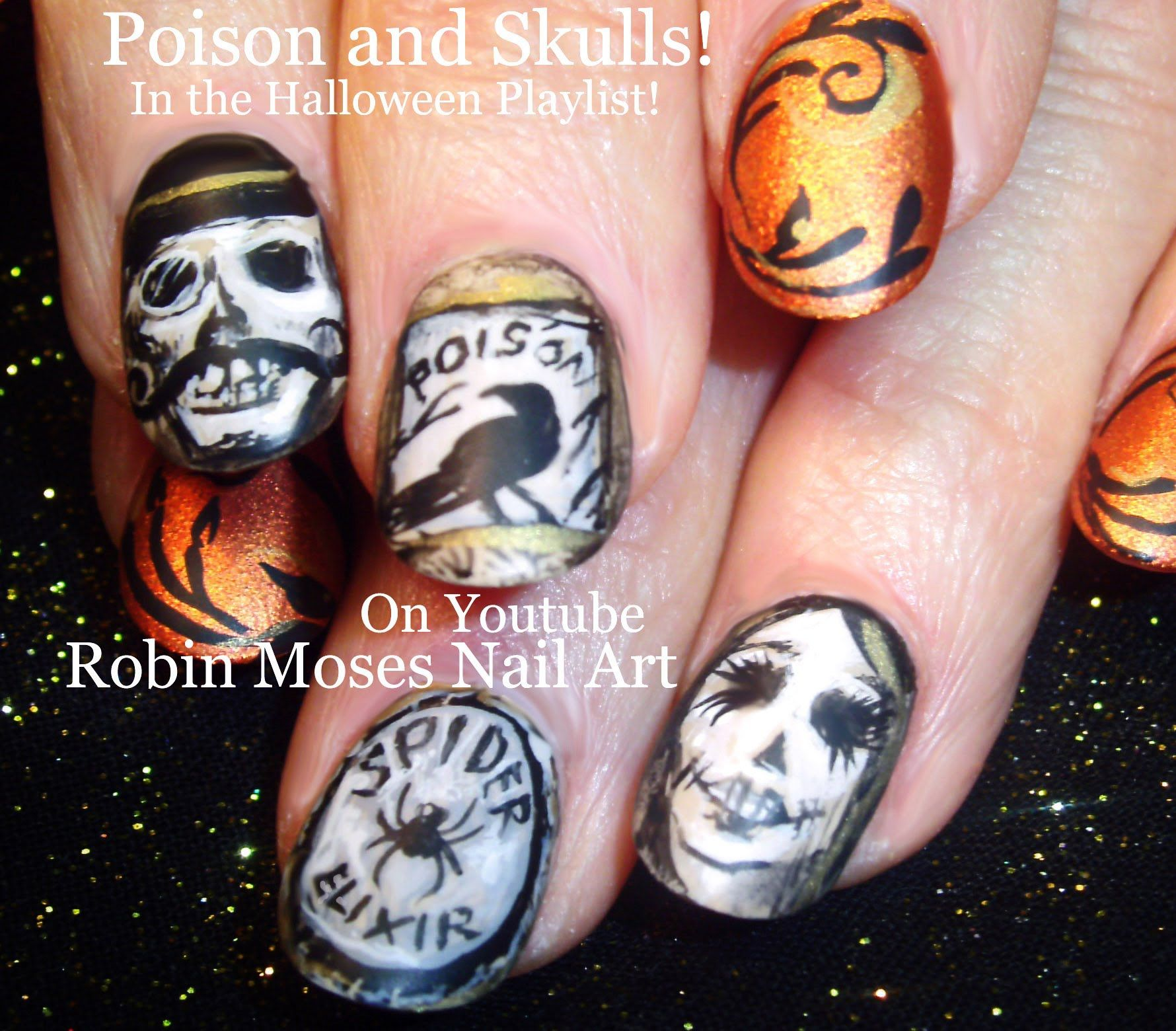Nail Art! #Poison #Bottles and #Skulls #steampunk #fall #old ...