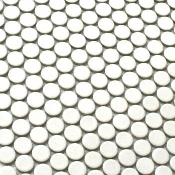 Mosaikfliesen Keramik Drop Weiss Uni