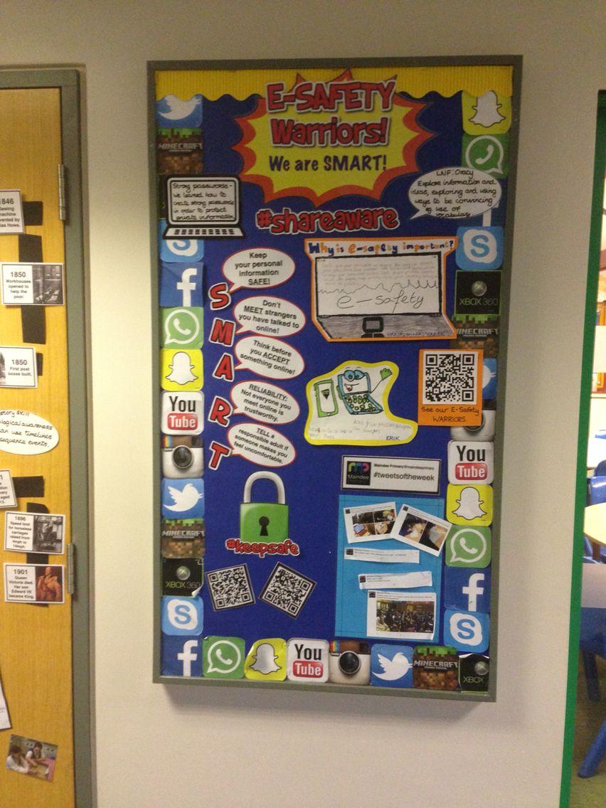 Esafety school displays safety computing display
