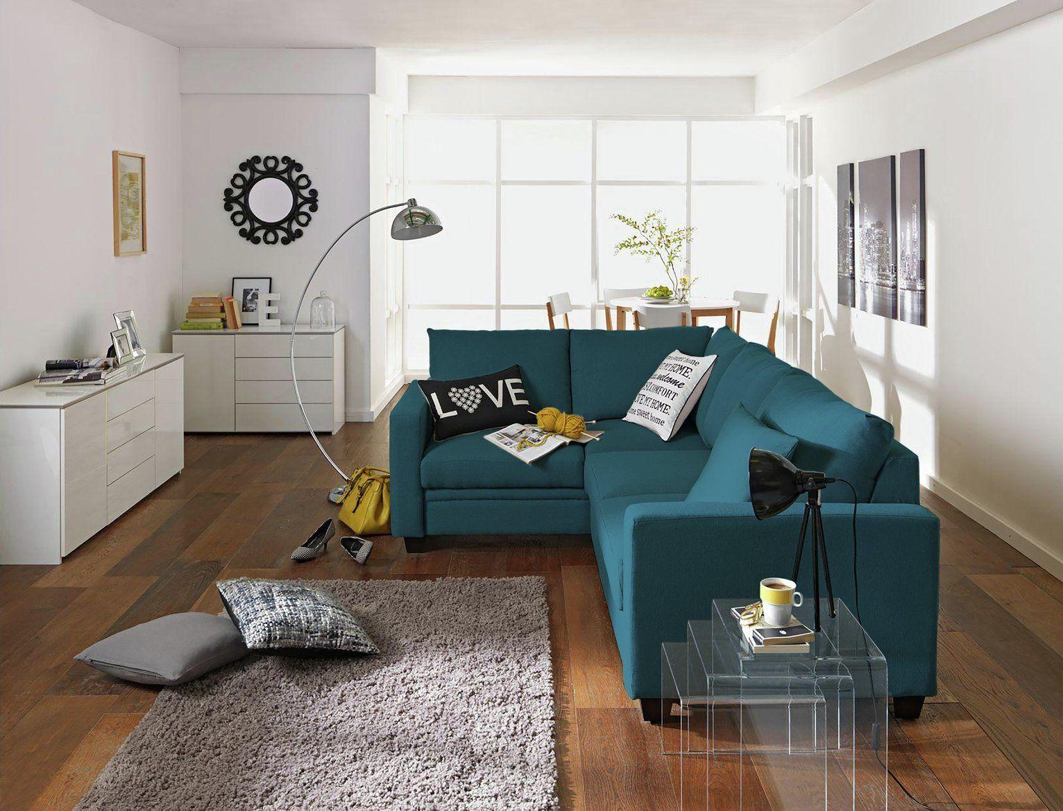 Argos Home Seattle Left Corner Fabric Sofa Bed - Blue in ...