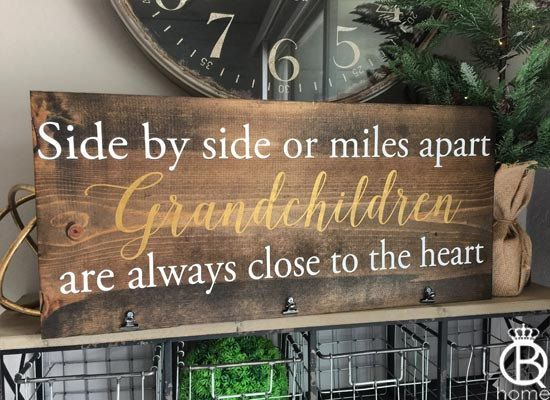 Grandchildren Are Always Close To The Heart Wood by QueenBHome