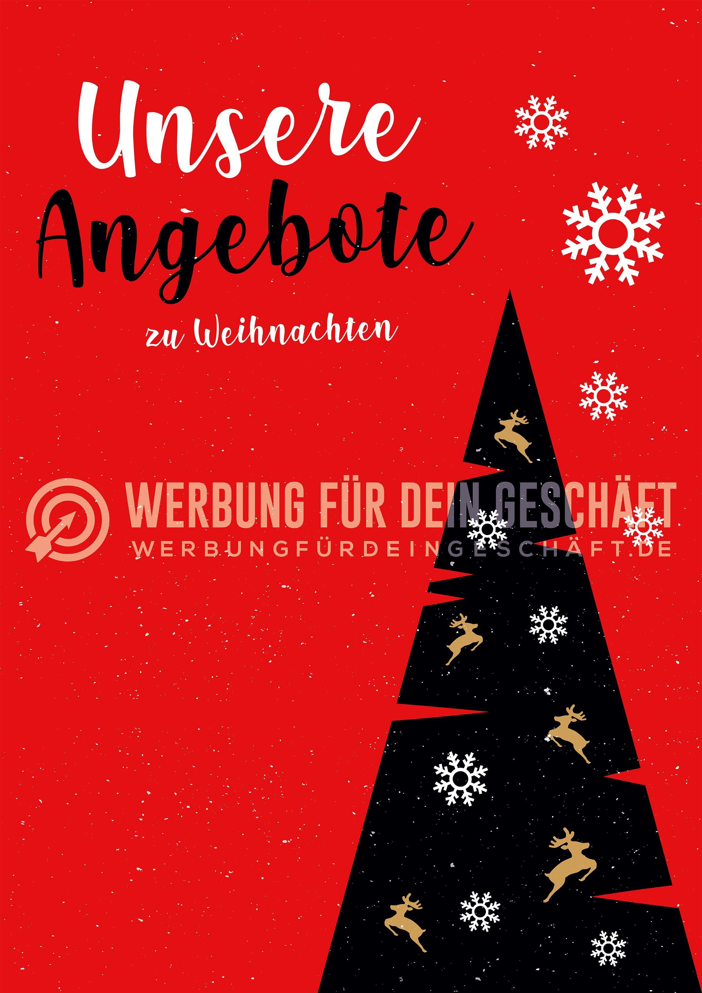 Werbeplakat Plakat Weihnachten Plakat Mode macht glücklich