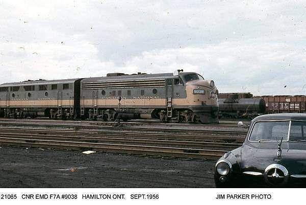 Old Canadian CN Diesel Engines