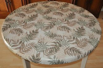 Tablecloths Fitted Vinyl Tablecloths Fits All Round Tables36to 48