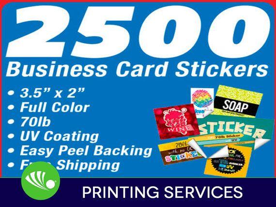 2500 business card sticker printing custom 2x35 full color uv 2500 full color business cards stickers 70lb stock uv coated our business card stickers are printed in full color on 70lb label paper turnaround colourmoves