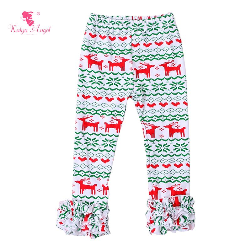 4447a904ba7854 Find More Pants Information about 1 Piece Girls Leggings Ruffle Pants  Christmas Icing Reindeer Pants Christmas Baby Girls icing Kids Leggings  Toddler ...
