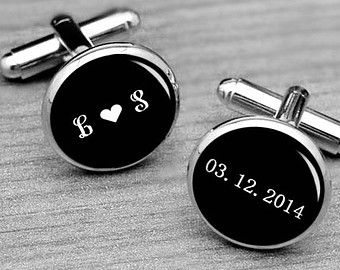 Monogrammed Cufflinks, Monogrammed Silver Cufflinks,Custom 3 Letters Cufflinks, Men Cufflinks, Gifts for men