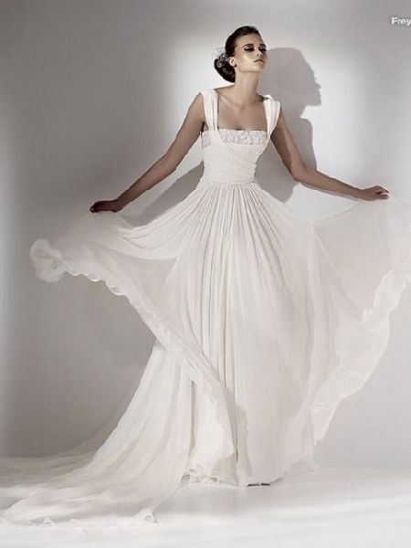 This website has hundreds of wedding dresses - simple to ornate. Gorgeous, especially for a simple wedding!