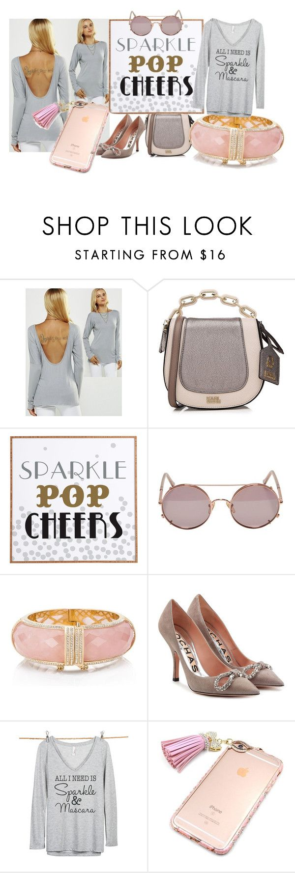 """""""Unbenannt #5994"""" by snowmoon ❤ liked on Polyvore featuring Karl Lagerfeld, Dot & Bo, Sunday Somewhere, Kate Spade, Rochas and Thread Tank"""